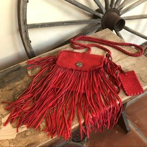 RALPH LAUREN COLLECTION Fringed Leather Bag Rare!